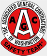 The Associated General Contractors of Washington Safety Team logo