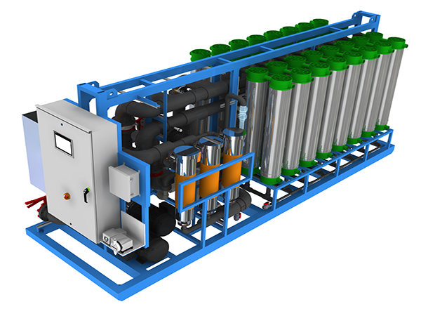 ultrafiltration water treatment system skidded