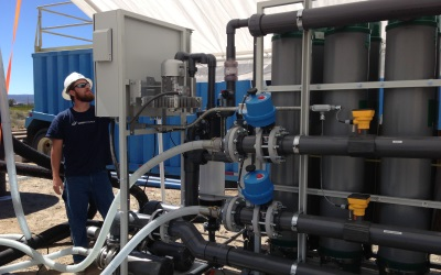 pilot project water treatment support
