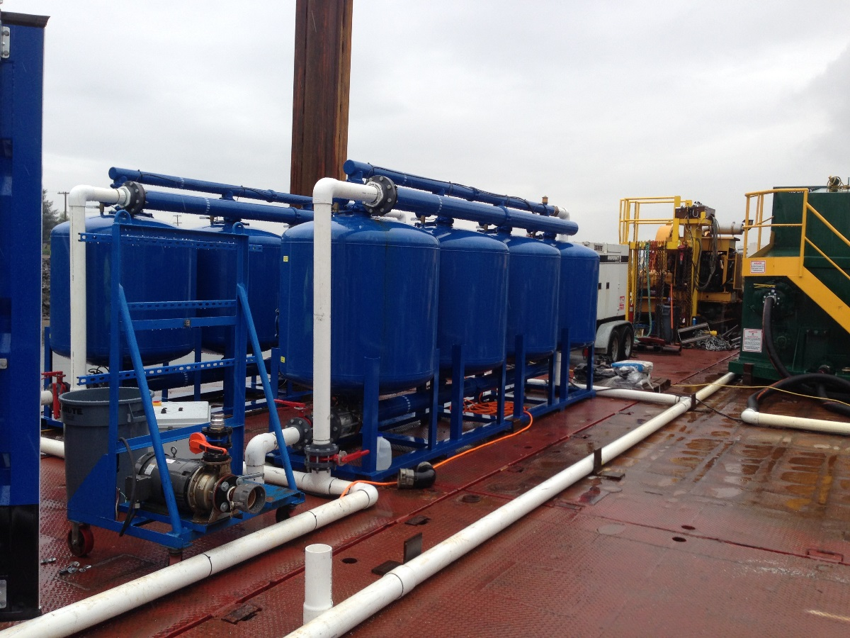 Dredge return water and CESF