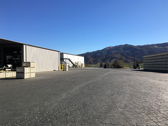 industrial water treatment site