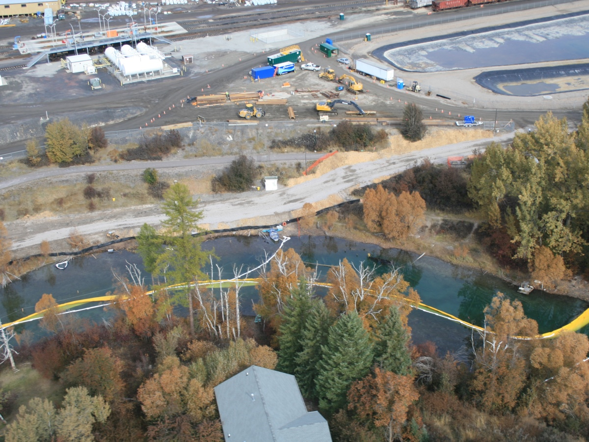 remediation project of the Whitefish River